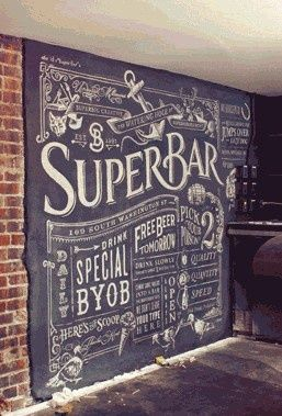 Typography inspiration art walls chalkboards and kitchens for Blackboard design ideas