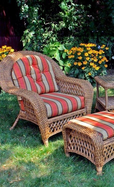 Outdoor Wicker Chair - Montauk Shown in Natural | Muebles rattan ...