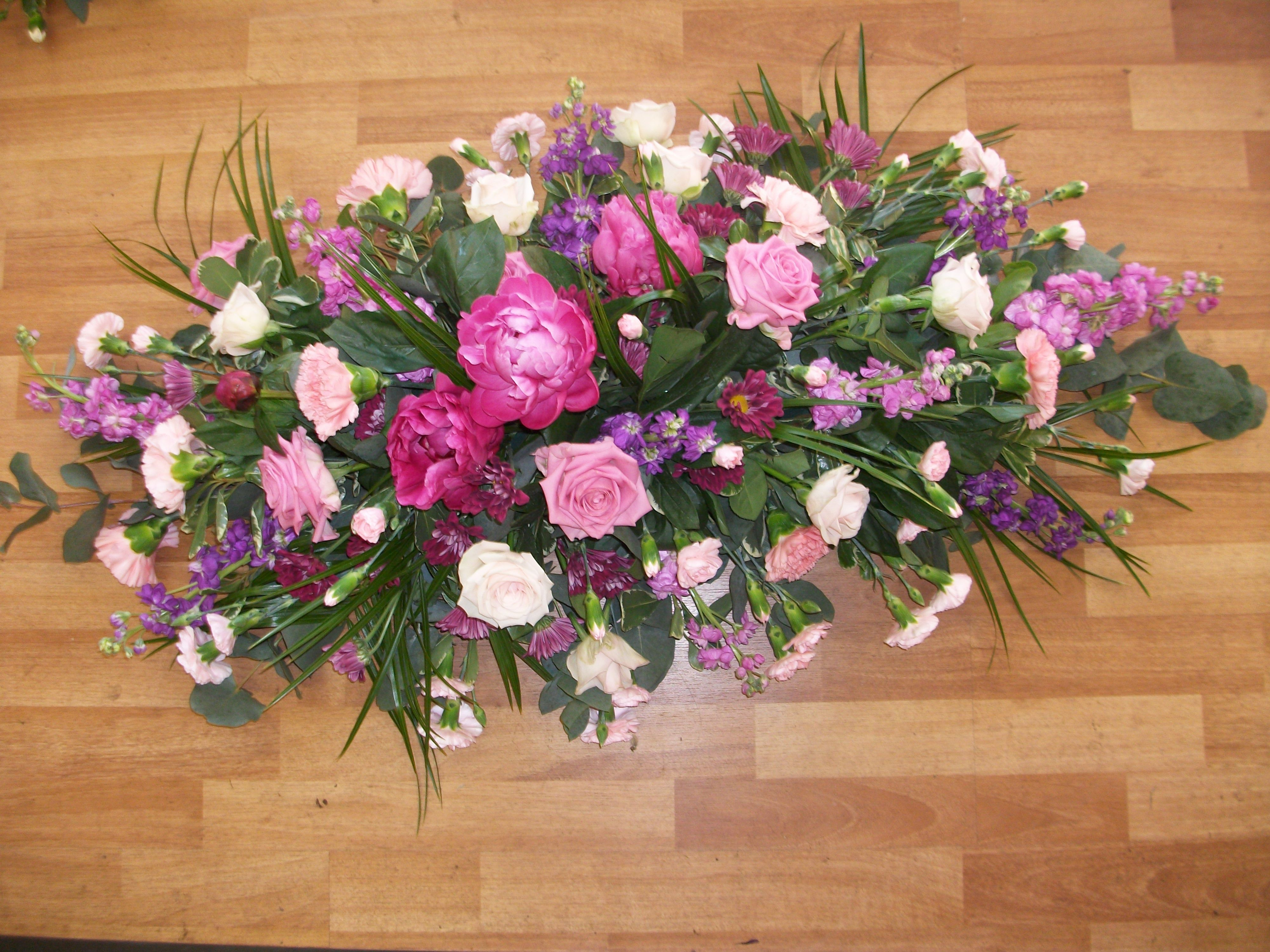 Summer casket spray created by heather county flowers for the summer casket spray created by heather county flowers funeral izmirmasajfo