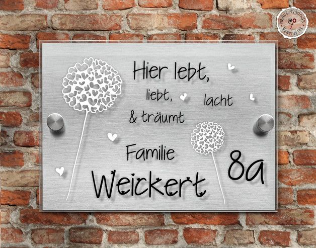 name schild little herzig geschenk hochzeit t r. Black Bedroom Furniture Sets. Home Design Ideas