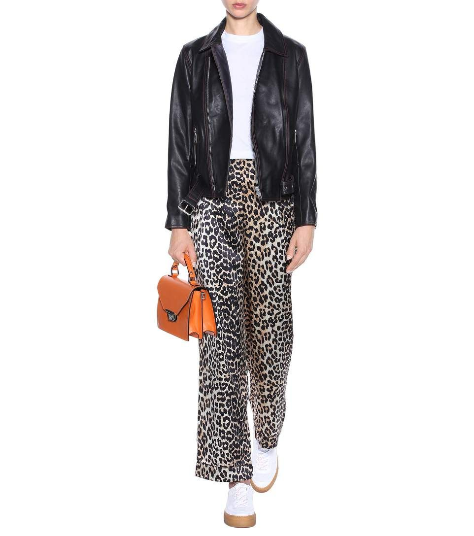 e075749f63cc Image result for ganni leopard trousers Brown Leopard, Printed Silk,  Trousers, Pants,