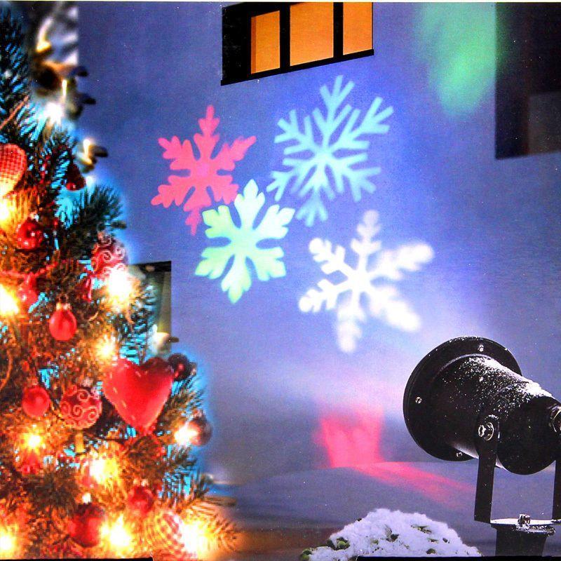 Moving Sparkling LED Snowflake Landscape Laser Projector Wall Lamp