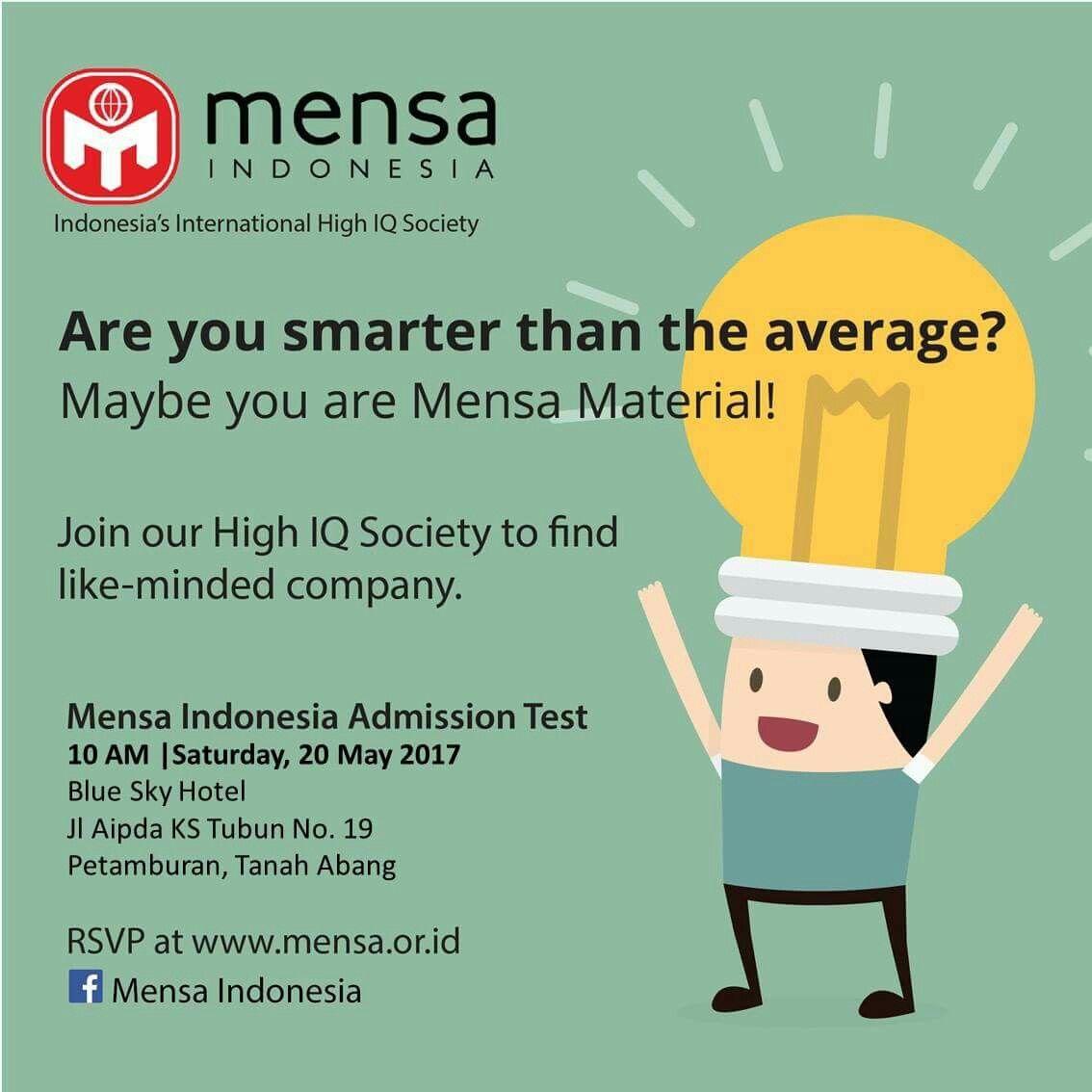 Pin by Sahat Simarmata on Mensa Indonesia | Mensa test, Blue sky hotel