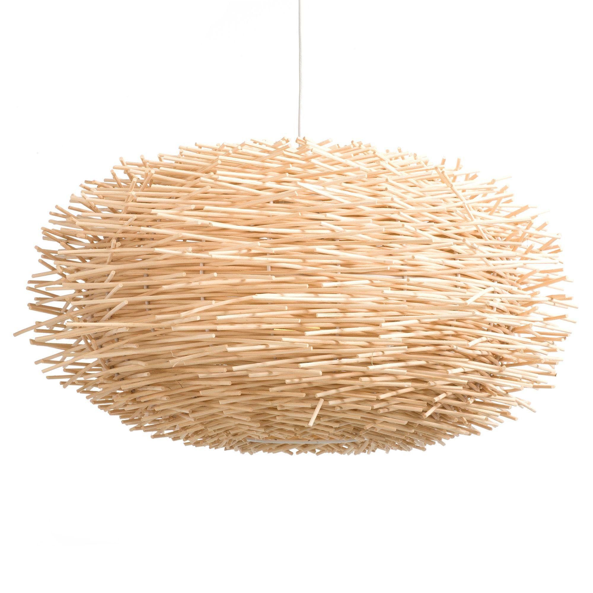 Suspension en rotin naturel non électrifié Olympe Le luminaire