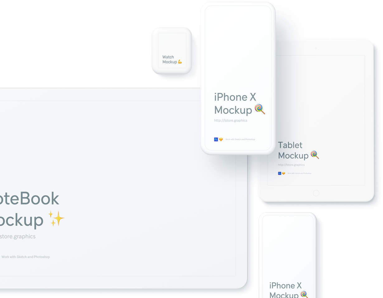 Beautiful Super Clean Devices Mockups For Sketch And Photoshop All Type Of Devices Mockup Tool Design Photoshop