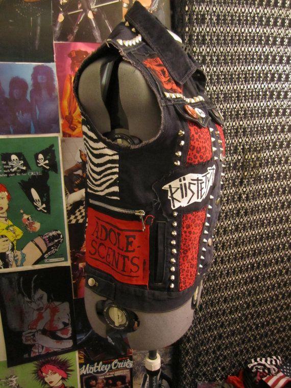 SALE Punk Rock Studded Zebra Print and by