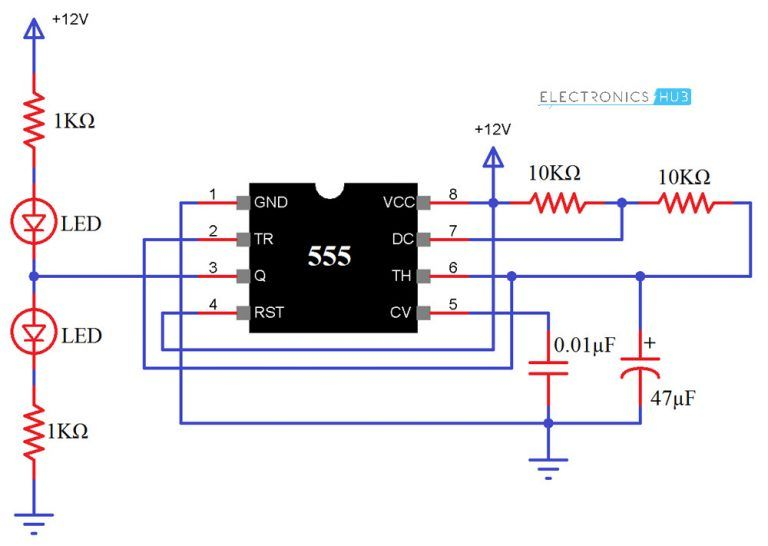 555 timer ic testing circuit and its working elektronik rh pinterest com