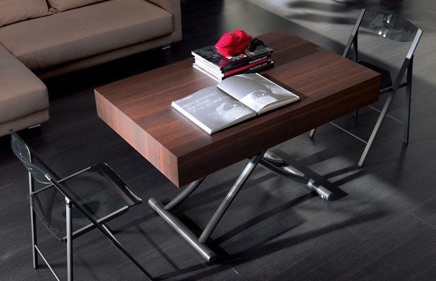 Mesa de centro convertible en mesa de comedor Moderna Box ...