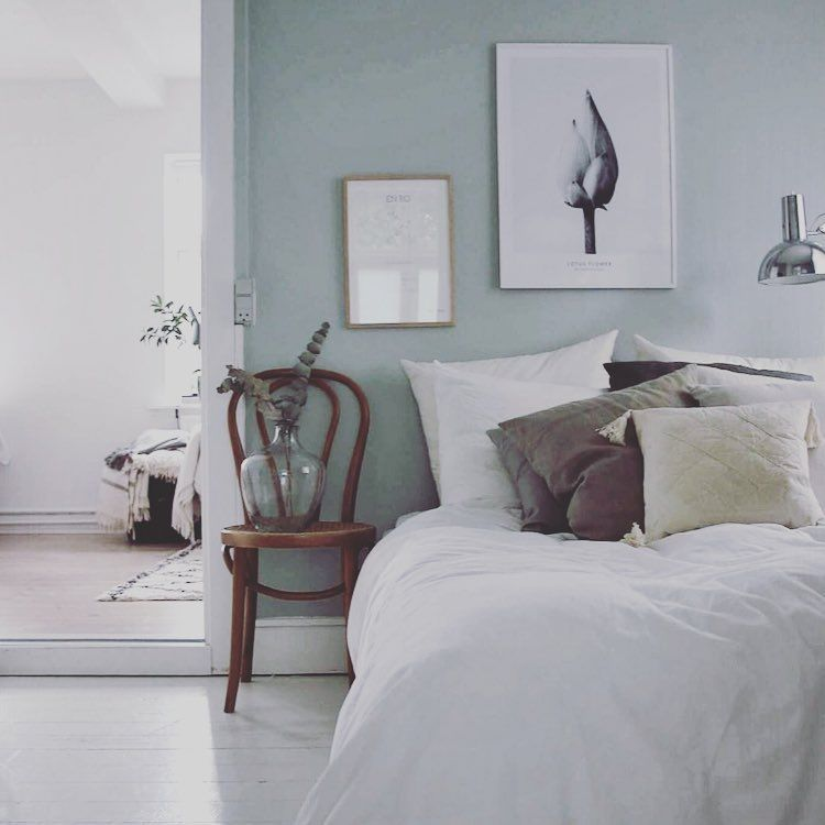 1 682 Likes 16 Comments My Scandinavian Home Myscandinavianhome On Instagram How Perfect Is This P Green And White Bedroom Bedroom Design Bedroom Decor