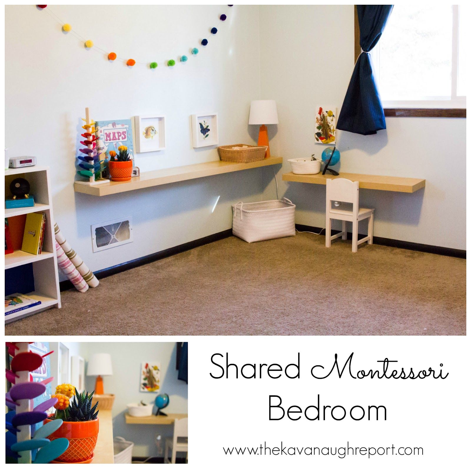 Shared Montessori Bedroom From The Kavanaugh Report