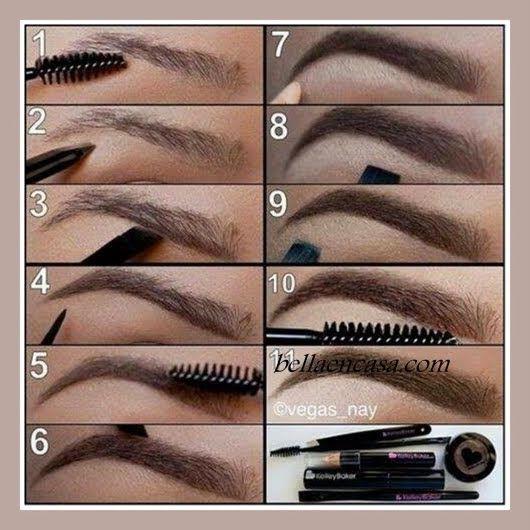 maquillaje de cejas natural