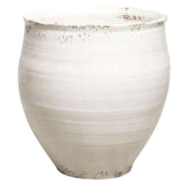 Large White Ceramic Pot Or Planter 395 Cad Liked On