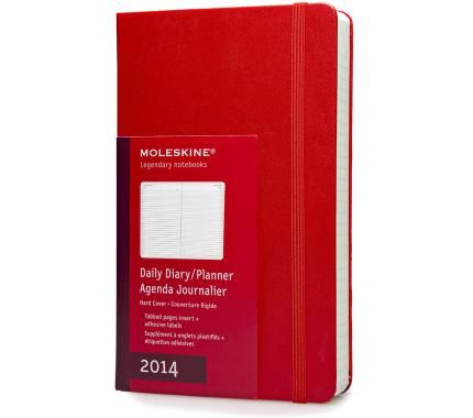 12 Months Daily Planner Red Hard Cover Large Moleskine Daily Planner Daily Planner Diary Planner