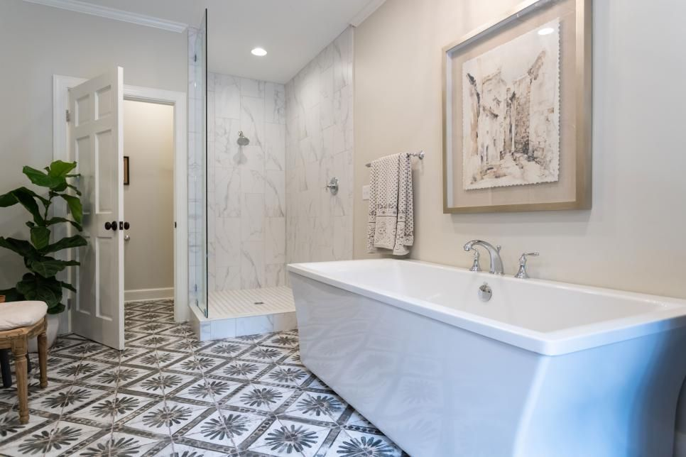 With A Modest Amount Of Reconfiguring The Redesigned Bathroom Has