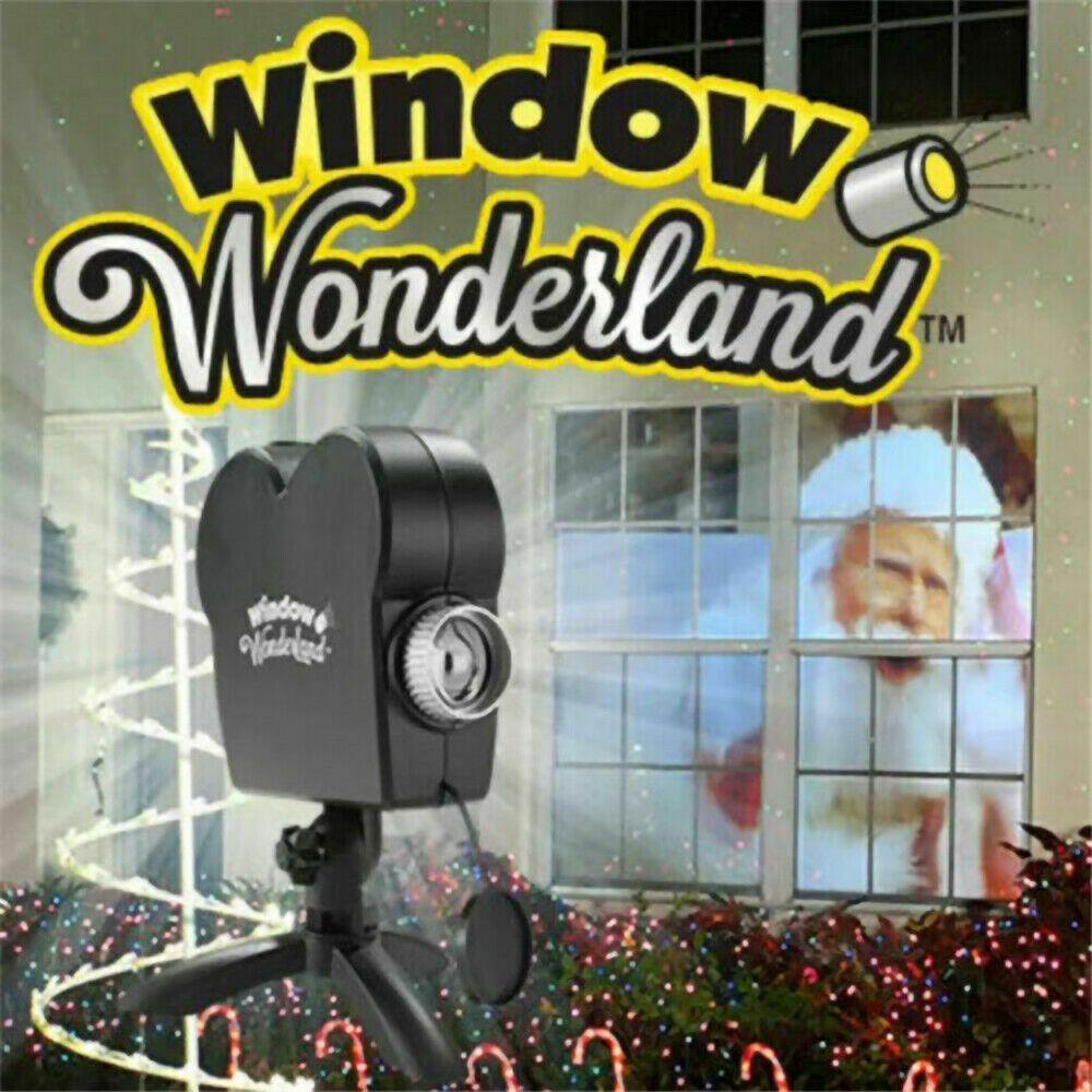 Holiday Christmas Indoor Outdoor Light Window Movie