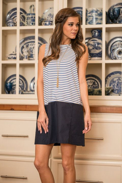 """""""Instant Bliss Dress, Navy"""" 