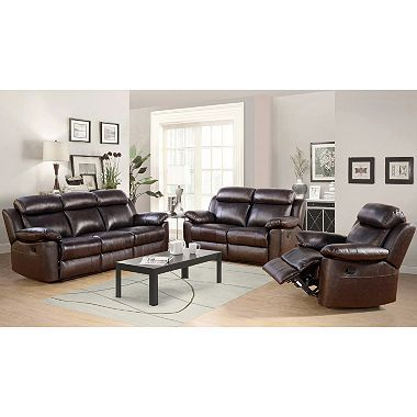 Admirable Manhattan Top Grain Leather Living Room 3 Piece Set Pdpeps Interior Chair Design Pdpepsorg