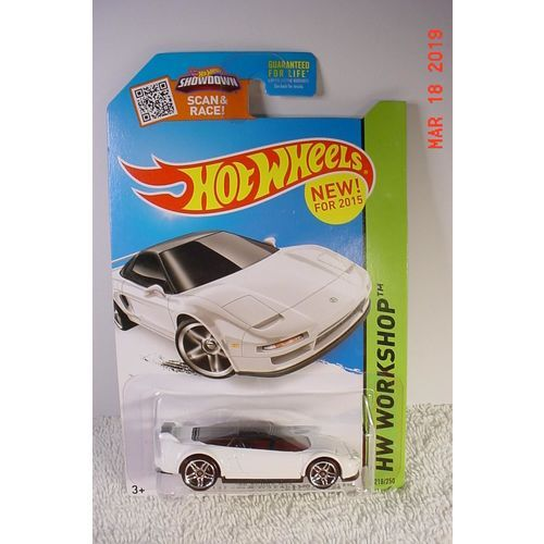 1990 Acura NSX White PR5 1/64 #218 2015 Hot Wheels BP