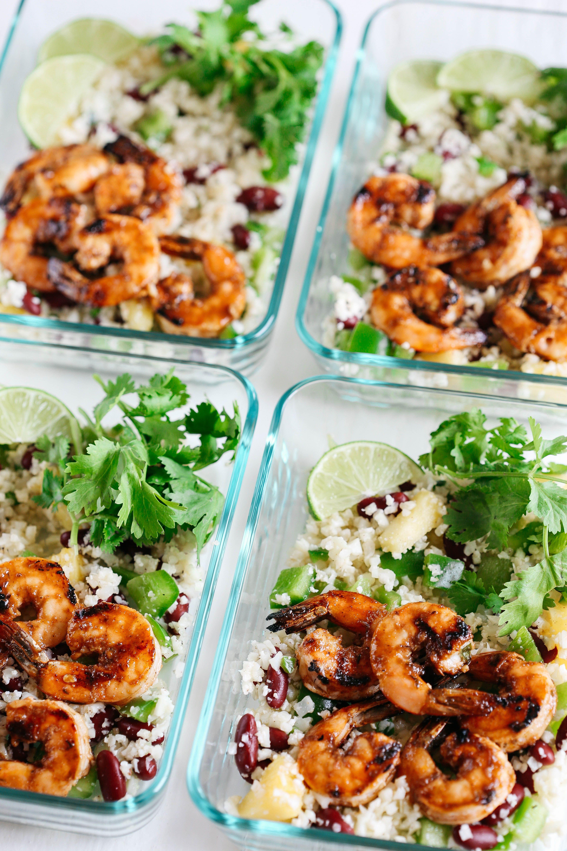 Caribbean Jerk Shrimp With Cauliflower Rice Recipe Lunch Under