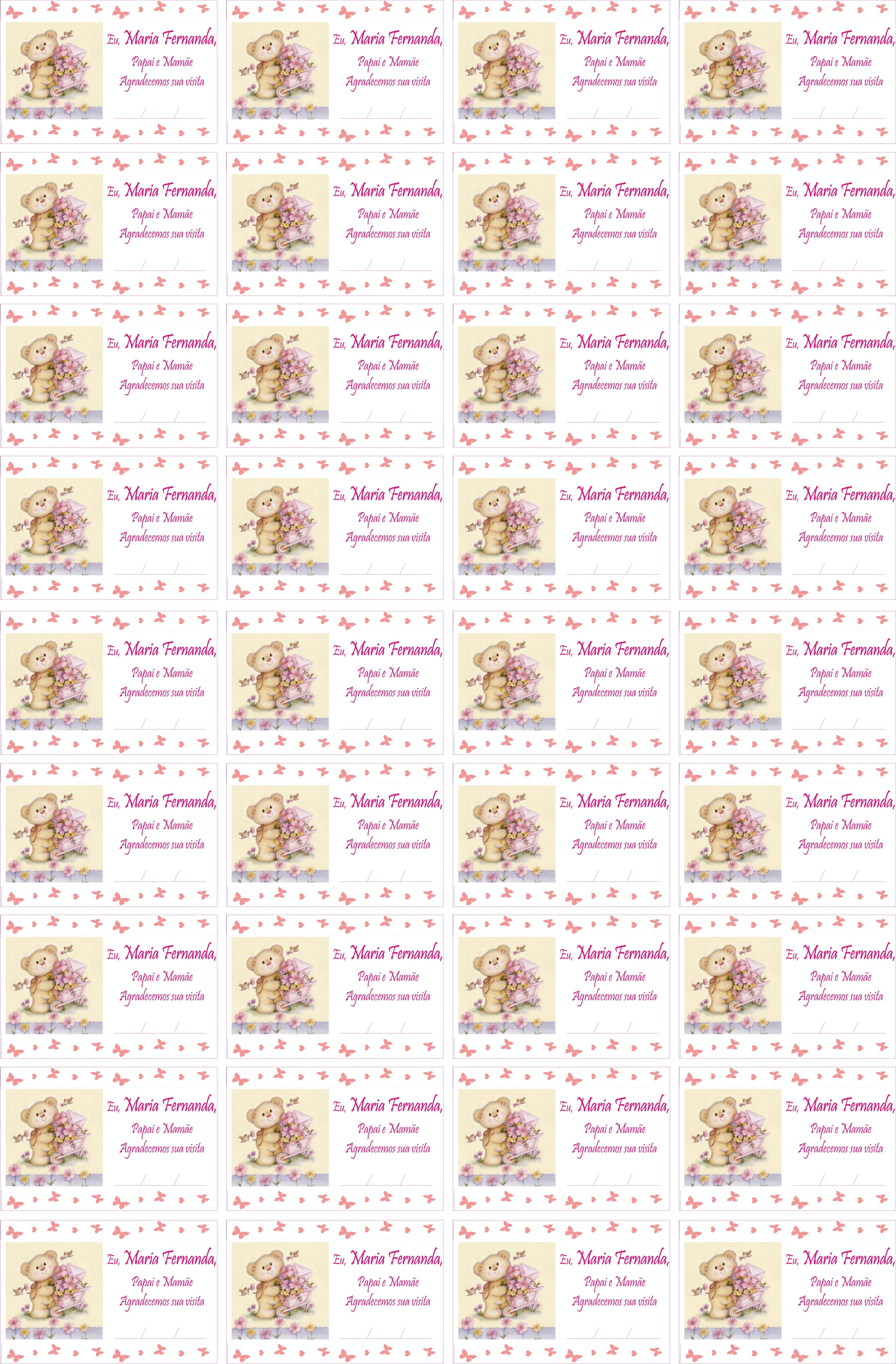 Fabuloso Modelo de Etiqueta para Lembrancinhas de Maternidade | Ideias de  RC39