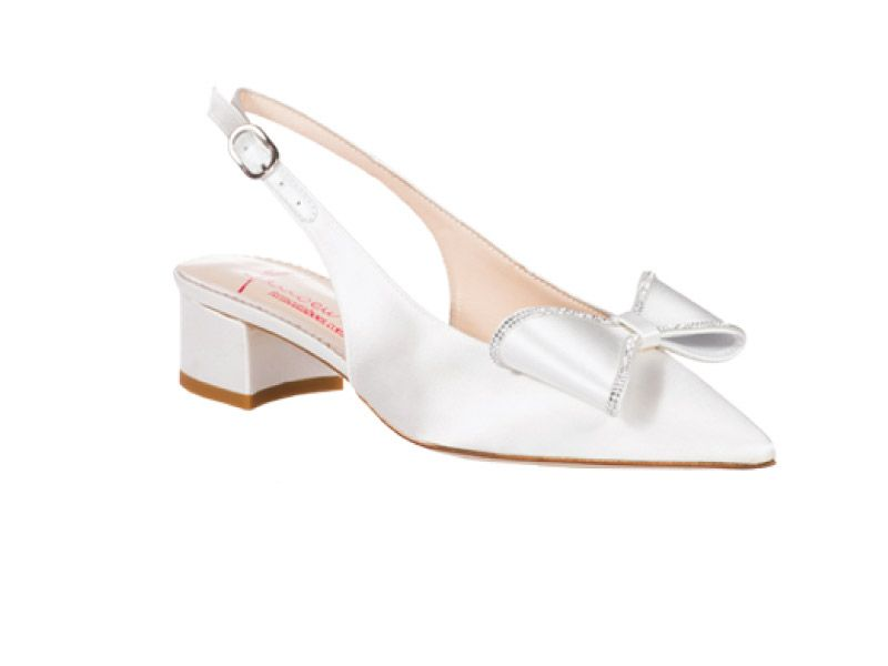 Scarpe Sposa 2015 Tacco 7.Scarpe Sposa Ferracuti Chanel A Punta Con Tacco Largo E