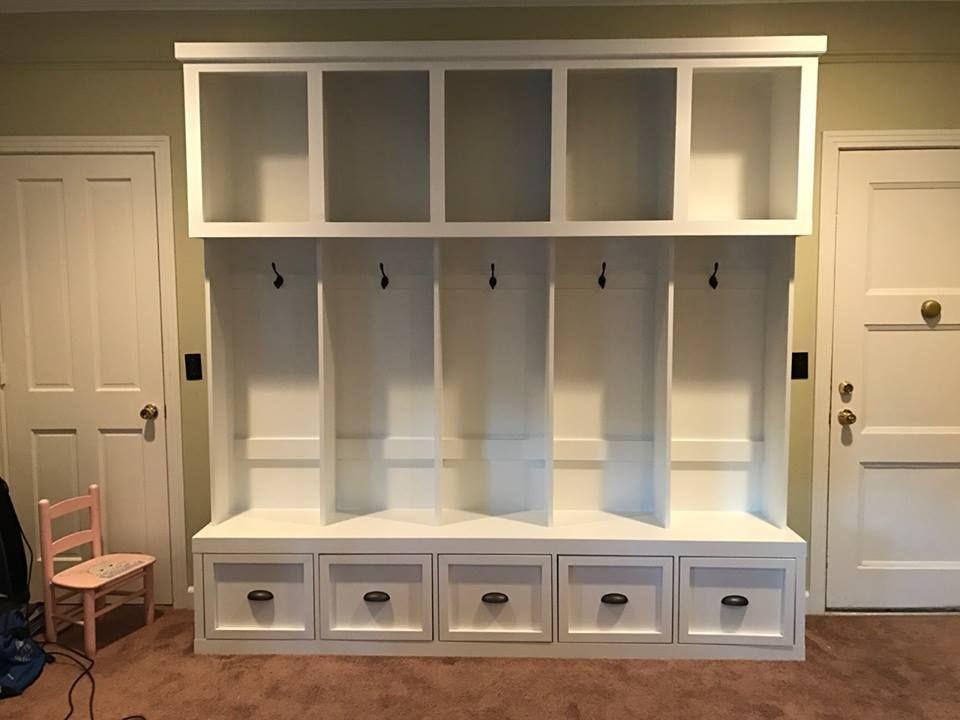 Custom Handmade Wood Mudroom Lockers, Cubbies U0026 Cabinets | Furniture By  Brad | Greater Nashville