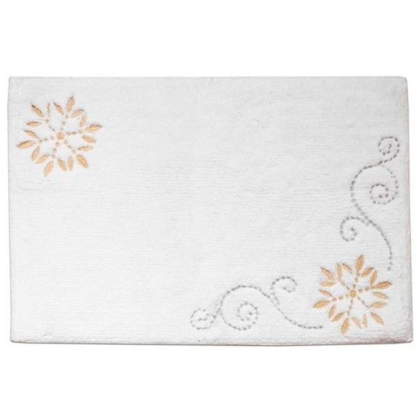 Lenox French Perle Snowflake Bath Rug 42 Liked On Polyvore Featuring Home