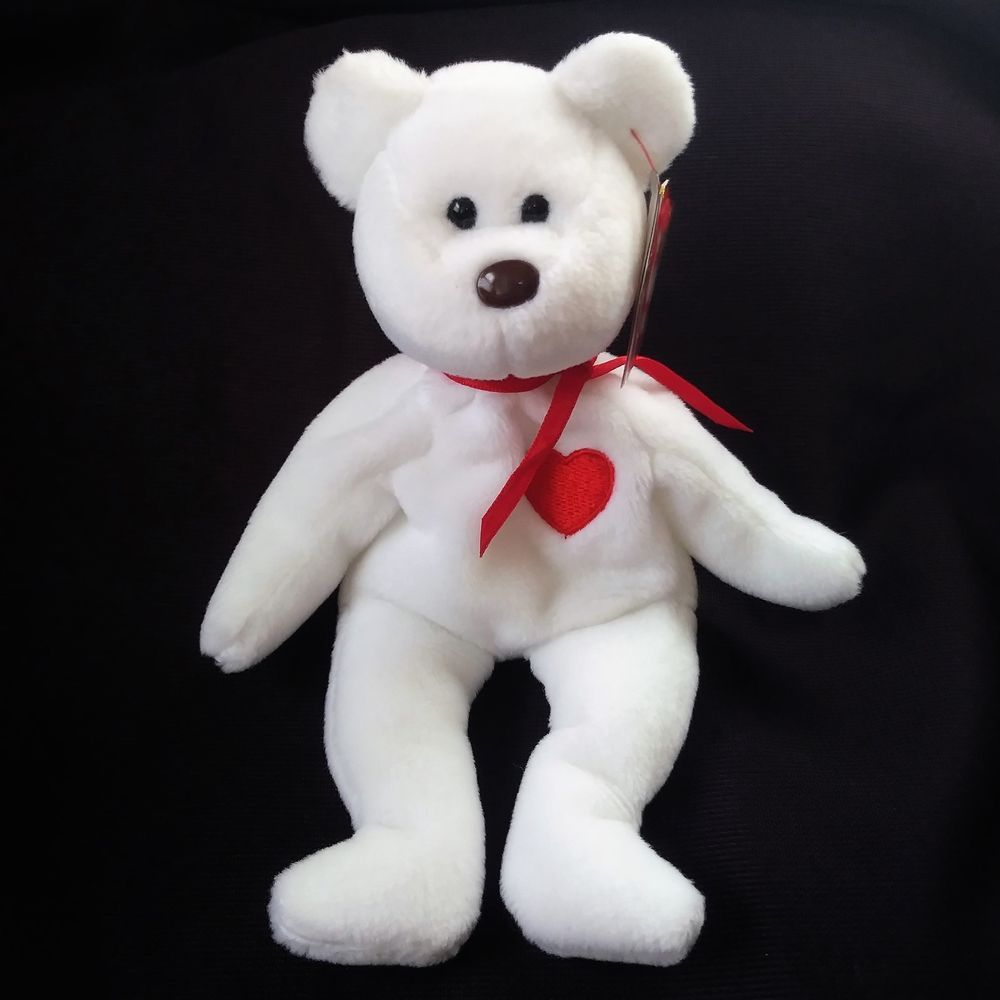 19a76f4ffc0 Valentino 1993 1994 TY Beanie Baby With Errors Heart Love Bear Tag  Protector