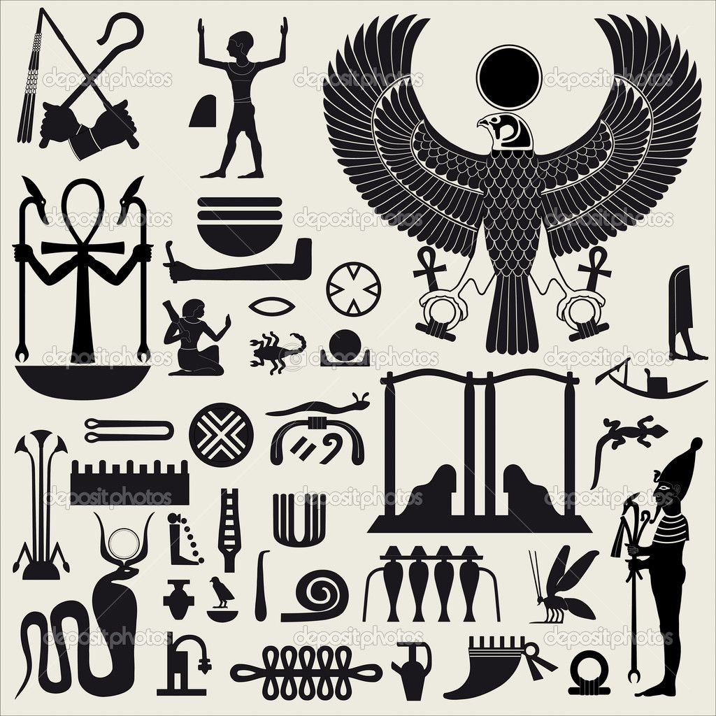 Egyptian symbol stencils egyptian symbols and sign set 2 stock illustration of egyptian symbols and signs silhouettes vector art clipart and stock vectors biocorpaavc