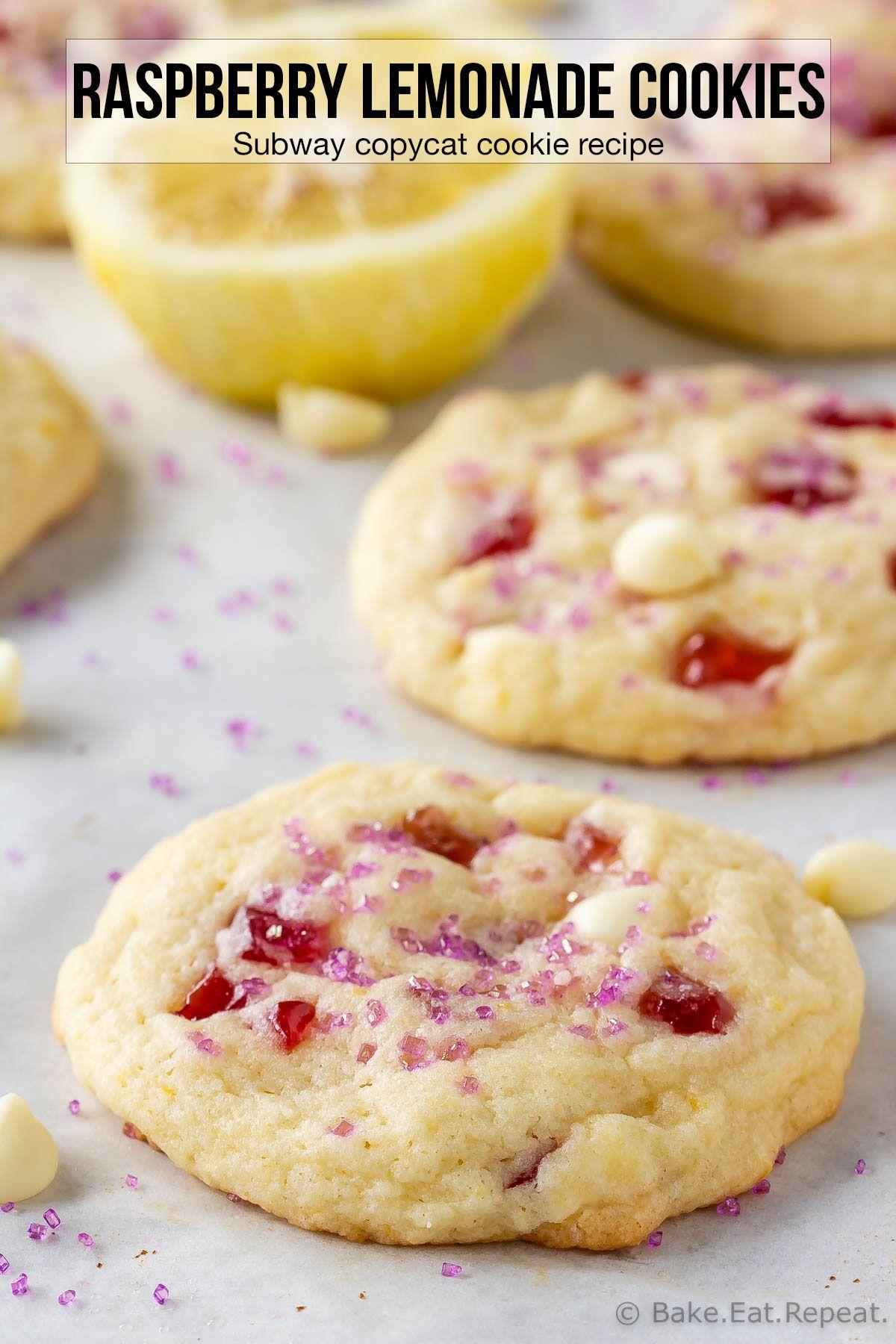 Raspberry Lemonade Cookies (Subway Copycat)