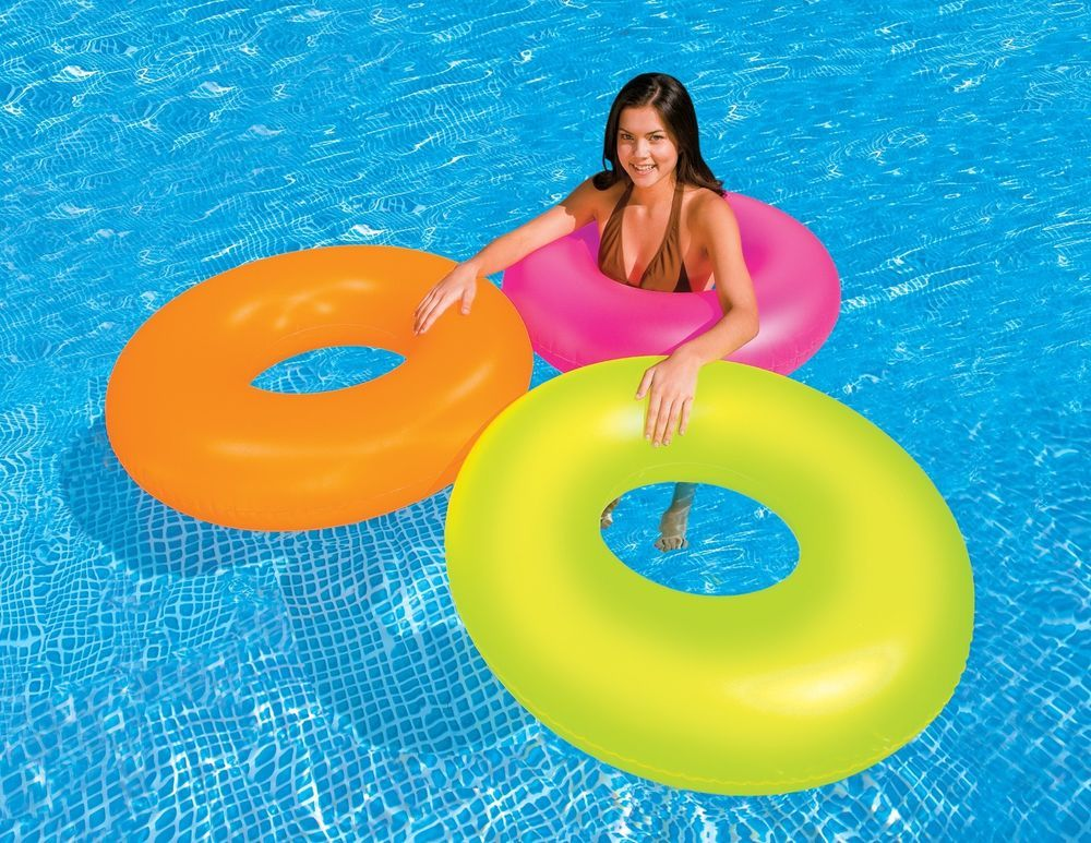 Details about Intex Neon Frost Tube Inflatable Swimming Pool ...