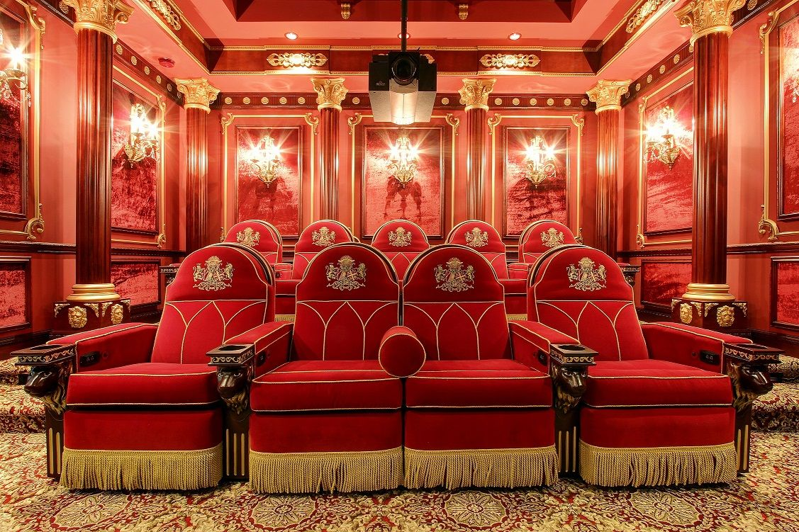 Old Hollywood Home Movie Theaters Custom Home Theater