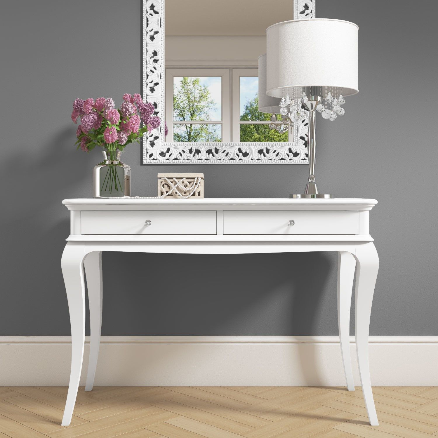 Dressing Table Idea White Dressing Table With Crystal Handles Silver Mirror And Fairy L White Dressing Tables White And Silver Bedroom Pink And Silver Bedroom