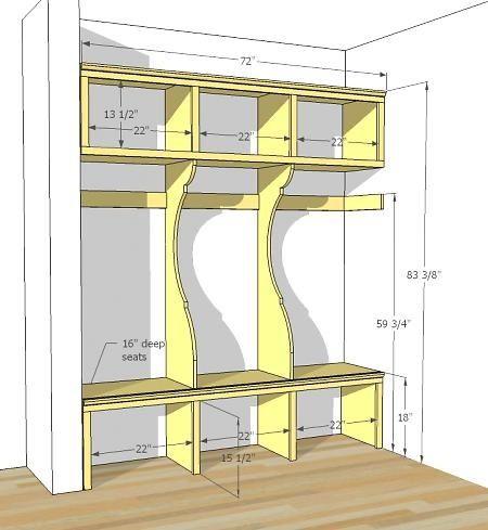 Cubbies blueprint home Pinterest Entrée, Rangement et Déco