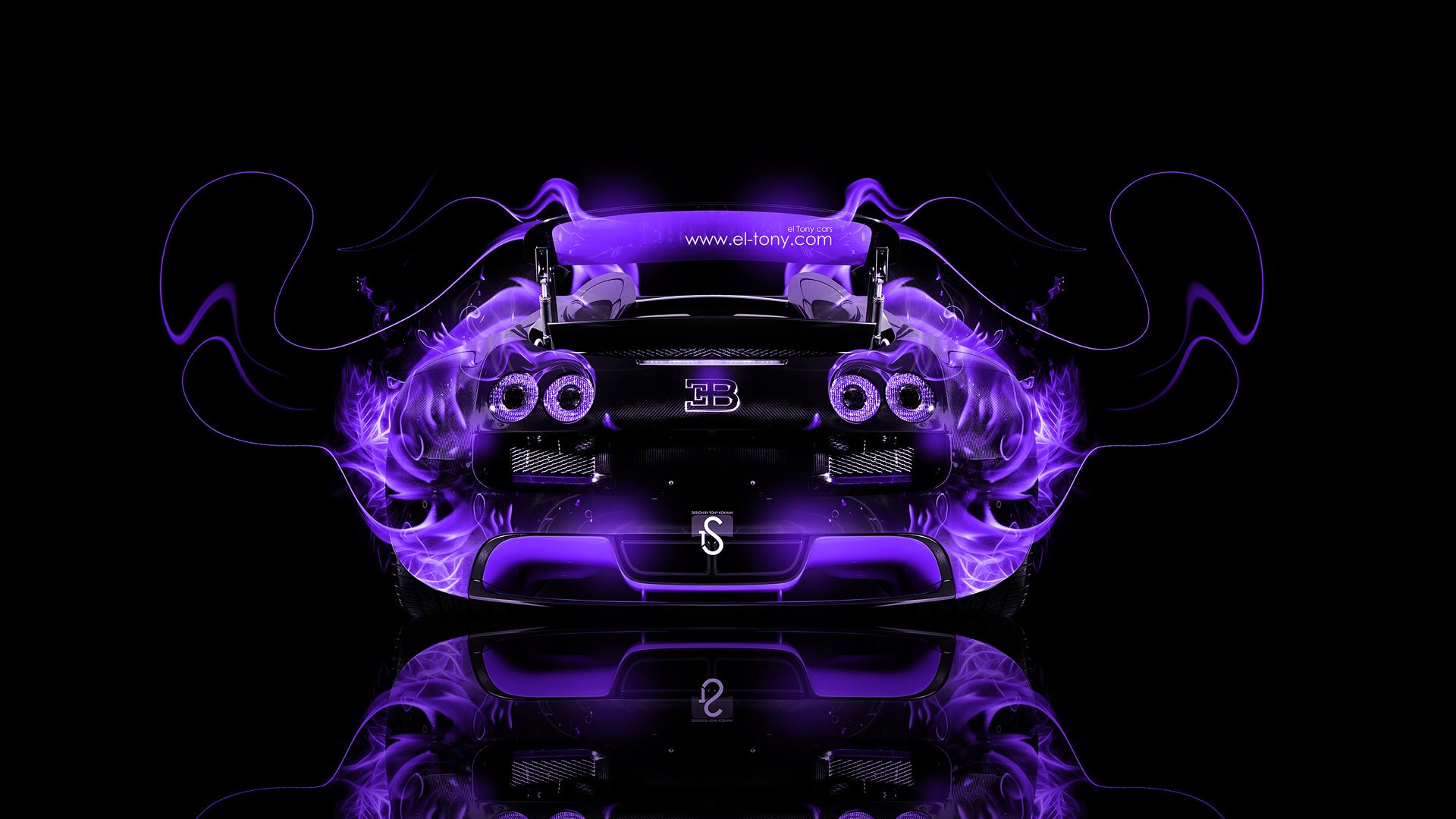 Gentil Bugatti Veyron Back Fire Abstract Car 2014
