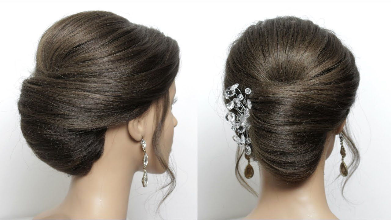 Hairstyle French Roll Quick Updo For Medium Long Length Hair