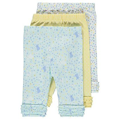 8a257fe5d934a 3 Pack Assorted Leggings | Baby | George at ASDA | Just Call Me ...
