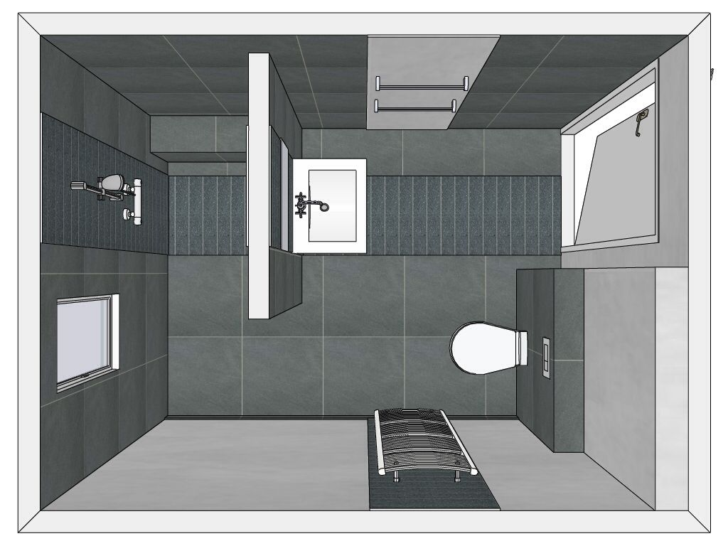 Wasbak 1 Meter : D muurtje wasbak douche badkamer e verdieping kids gasten