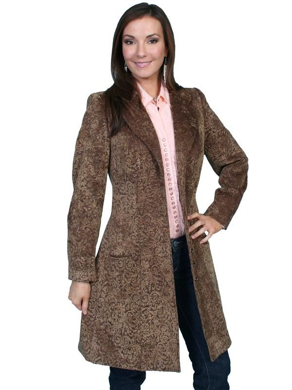 09eac459ebb Scully Ladies' Old West Jacket: Wahmaker Frock Coat Chenille Notched Lapel  Cafe 6-20