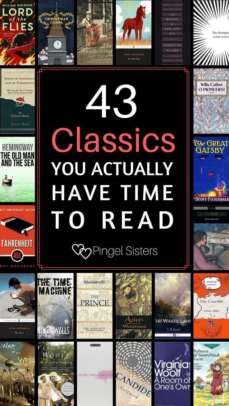 43 Short Classics You Have Time to Read | Classic books ...