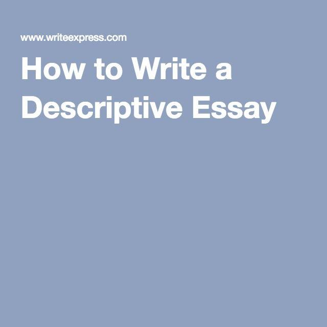 How to Write a Descriptive Essay Composition Pinterest