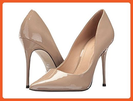 36406b44bb48 Massimo Matteo Women s Pointy Toe Pump 17 White Patent Shoe - Pumps for  women (