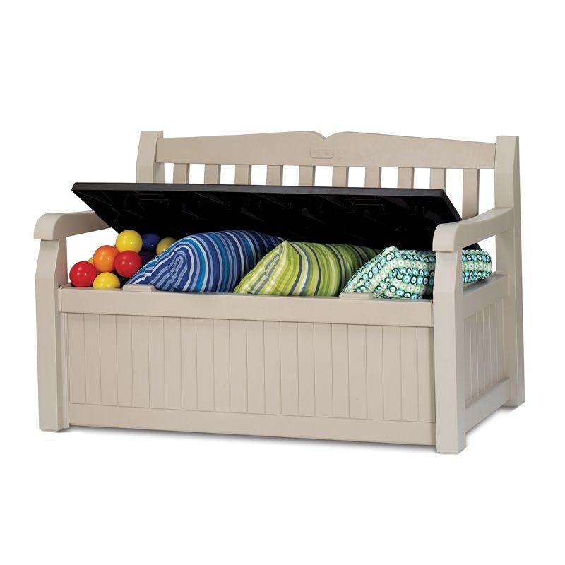 $229  Bunnings Keter 265L 140x60x84cm Eden Outdoor Storage Bench | BAckyard  Ideas | Pinterest | Outdoor Storage, Storage Benches And Storage