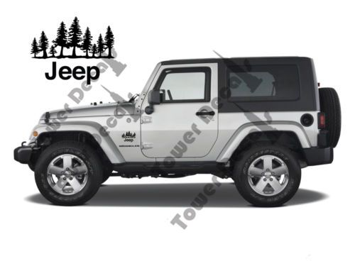 Jeep Tree Forest 2 5 5 Vinyl Decals Army Stars 2 10 Half Doors Vinyl Decals For The Jeep Wrangler Rubicon Sahara Jeep Wrangler Jeep Jeep Wrangler Rubicon