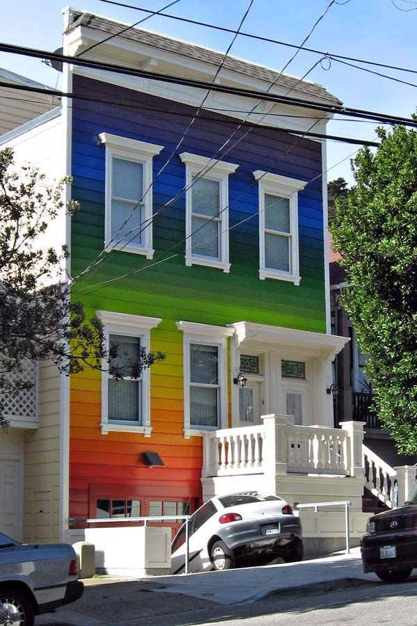 Rainbow House In The Castro See Our Quirky Home Slideshow Here