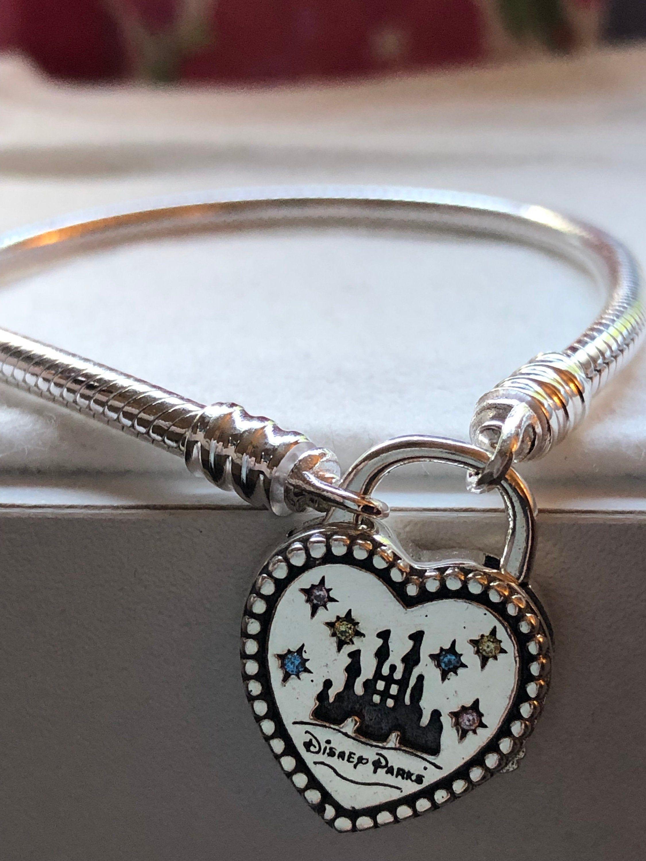 Disney Parks 2019 Fantasyland Heart Lock Bracelet Pandora Etsy Pandora Bracelets Pandora Bracelet Pandora Disney