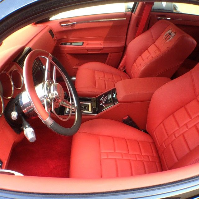 Ca California Upholstery Dodge Magnum Srt All Red And Black Custom