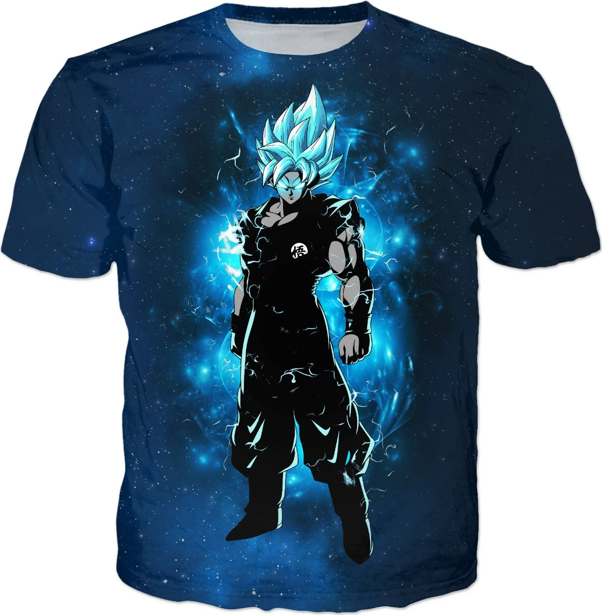 Goku super saiyan blue all over t-shirt | Displate thumbnail