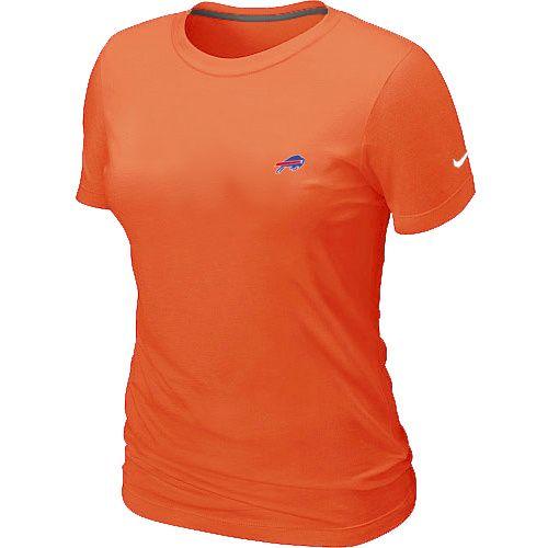 Buffalo Bills Chest Embroidered Logo Women's TShirt Orange
