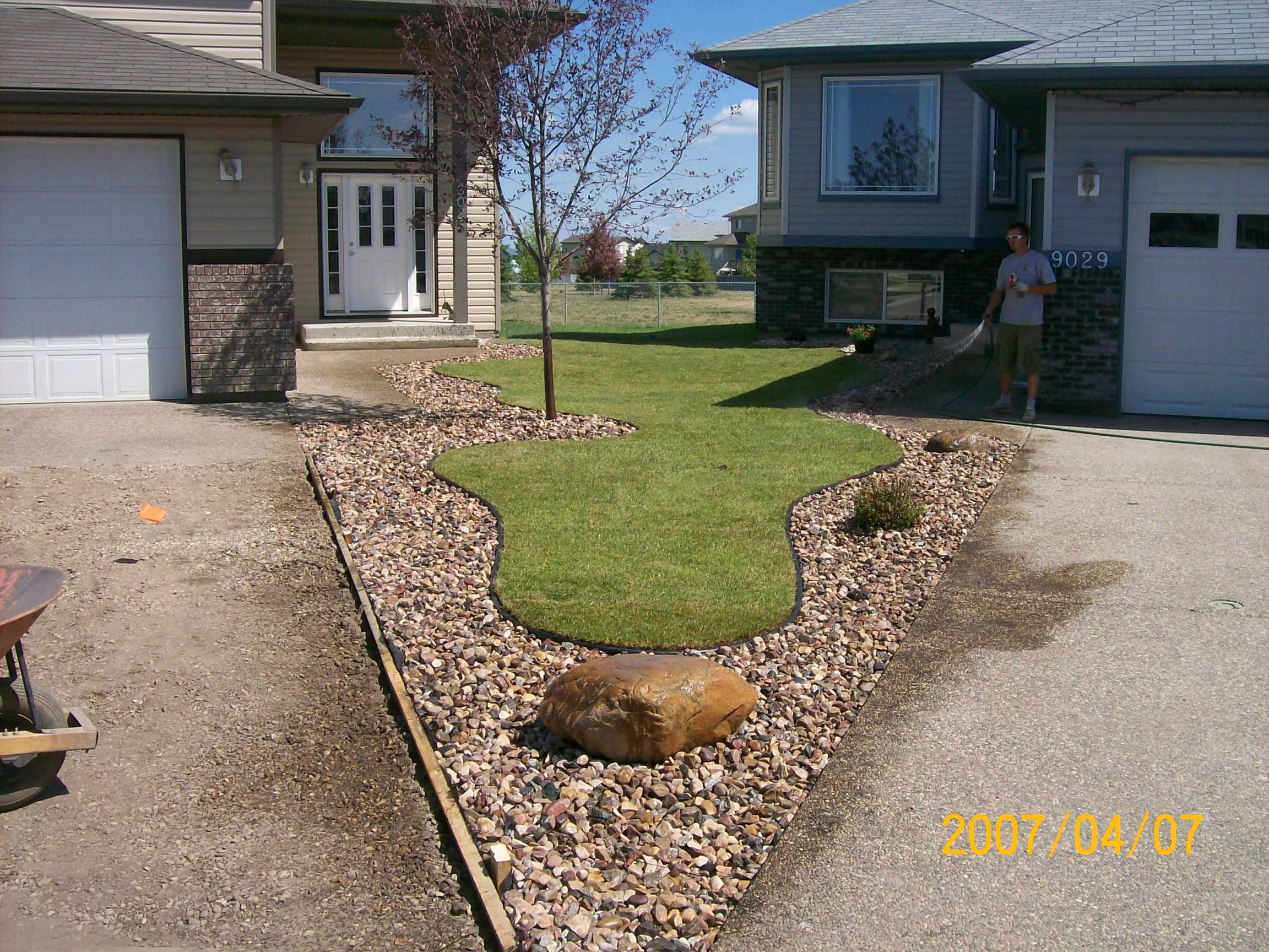 Visit our how to module on using edging and decorative for Decorative boulders for yard